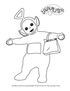 Tinky-Winky colour-in