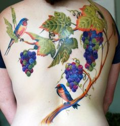 Beautiful colors for a mastectomy tattoo coverage. [p-ink.org]