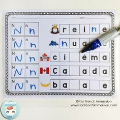 French Alphabet Stamping OR Writing Worksheets! Fun and engaging activity that will help your students improve fine motor skills and learn the French alphabet at the same time! Read In French, Study French, Core French, Learn French Fast, French Alphabet, Vocabulary Practice, French Classroom, Alphabet Stamps, French Immersion