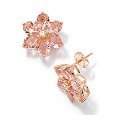 Simply Vera Vera Wang 14k Rose Gold Over Silver Stud Earrings