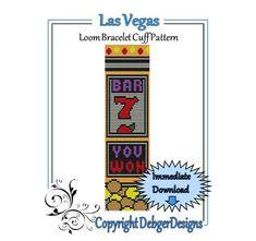 Bead Pattern Loom(Bracelet Cuff)-Las Vegas