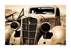 """Ghost car"" by Michael Hodges, Rock Island Tennessee // 1935 Plymouth, abandoned in New Mexico ghost town. // Imagekind.com -- Buy stunning, museum-quality fine art prints, framed prints, and canvas prints directly from independent working artists and photographers."