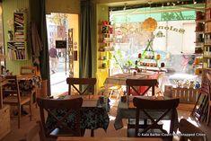 The cozy interior of the teahouse/yarn shop L'OisiveThé