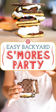 Summer at Home: Throw a Backyard S'mores Party! Looking for a fun, family-friendly thing to do—at home—this summer? Try a backyard s'mores party! We've got tips for how to make it delicious and (relatively) mess-free! #simplyrecipes #smores #familyfun #smoresbar Delicious Desserts, Dessert Recipes, Yummy Food, Tasty, Bar Recipes, Free Digital Scrapbooking, Digital Marketing Strategy, Simply Recipes, Great Recipes