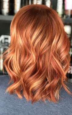 34 Absolutely Stunning Red Hair Color Ideas for Auburn Strawberry Blonde - Lates. - - 34 Absolutely Stunning Red Hair Color Ideas for Auburn Strawberry Blonde - Latest Hair Colors Red Hairstyle Models 2019 Top Best Red Hairstyle ideas a. Red Hair With Blonde Highlights, Red Blonde Hair, Copper Blonde Hair, Bright Copper Hair, Brown Hair, Color Highlights, Red Hair Bobs, Red Hair For Blondes, Copper Hair Colors