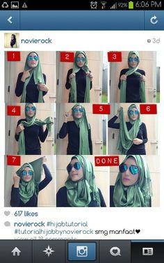 Novierock hijab tutorial