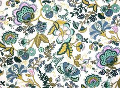 "Liberty Fabric Mabelle Olive Green Blue Floral by PickClickSew 26"" x 10"" £3.45"