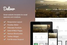 Deliver Responsive HTML Template by Theme Trunk on @creativemarket