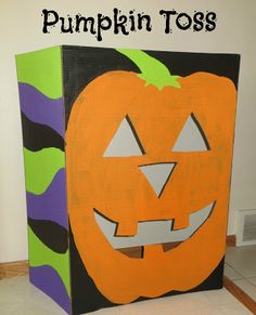 For What It's Worth...or Not.: DIY Pumpkin Bean Bag Toss - on tri-fold display board