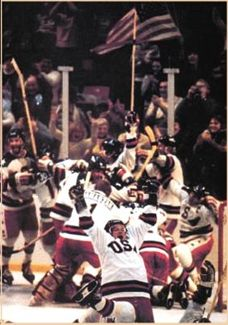 1980 U.S. Olympic Hockey Gold Medal Victory against the Soviet team.