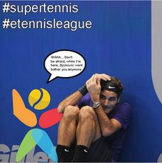 I've assured Mr. #rogerfederer #federer #tennisplayer that Mr. #djokernole won't bother him no more, and I mean it. #djokovic #novakdjokovic #nolefam #tennis #tennisfunnyphotos #tennispro #tennislessons #tenniscoach #tennisworld #tennisleague #supertennis #etennisleague #tennislove #instatennis #tenniscourt #tennisball #tennisracquet