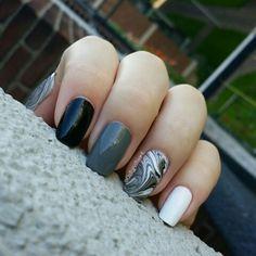 #watermarble #nails. #nailart