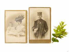 Anciennes photos sépia CDV XIXème portrait par LeGrenierDeFrancine