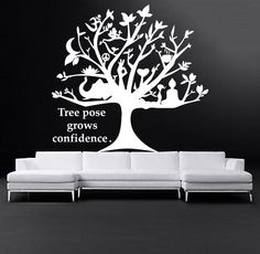 Tree Wall Decals Art Gymnast Quotes Decal Yoga Stickers Decal Gym Home Decor Interior Design Murals MN926 Gymnastics Quotes, Yoga Studio Decor, Wall Decals, Handmade Gifts, Etsy, Art, Kid Craft Gifts, Art Background, Craft Gifts
