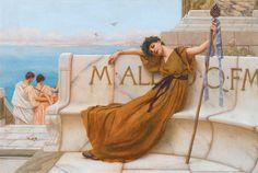 How to use Latin (Part 1) John William Godward, Balenciaga, Decoupage, Hera, Father John, Pre Raphaelite, Bacchus, Impressionist Art, First Photograph