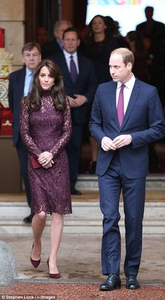 The Duke and Duchess of Cambridge were on hand to greet the visiting dignitaries...