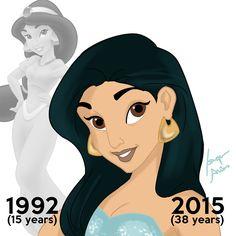 A quoi ressembleraient les Princesses Disney si elles avaient subi les années qui passent ?