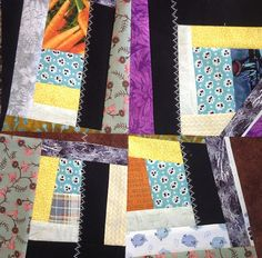 """Quilters...Enjoy Color!: Crazy Quilting Tutorial Do you know that a grocery bag full of scrap fabric will make at least 5 quilt tops!  Wow! Start with """"Strips"""" and """"Tidbits"""" of fabric. Each """"tidbit"""" will be the start of an individual block. Start only as many as you need for your quilt top.  30 makes a nice size quilt."""