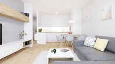 Dobryinterier.sk Loft, Living Room, Dining, Projects, Lofts, Home Living Room, Drawing Room, Lounge, Family Rooms