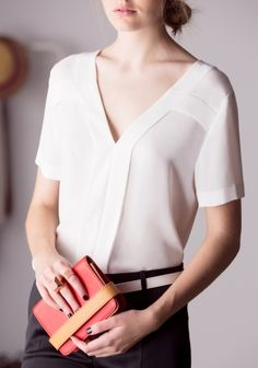 Y-detail Blouse | White | & Other Stories