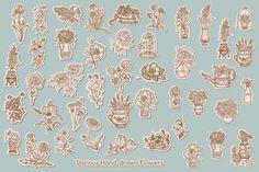 214 Retro Flowers - Illustrations - 3