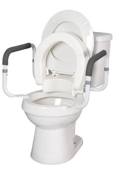 Hinged Toilet Seat With Arms ELONGATED WITH ARMS ** Clicking on the image will lead you to find similar product http://www.amazon.com/gp/product/B00B3XGTSA/?tag=buyamazon04b-20&p8i=260217083518