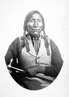 Lone Wolfe (Guipago), a Kiowa chief; half-length,            seated.  Photographed by William S. Soule, 1868-74.