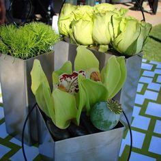#c2mdesigns #floral #floraldesign #centerpiece #cocktail #roses #orchids #cymbidium #poppypod #stainless #texture #trio #contemporary #simplicity #event #corporateevent #green #Boston #MOS #HGAForum #waterfront #designsthatrock Floral designer: #christinemccaffery Event producer: #NXTevent @nxteventboston