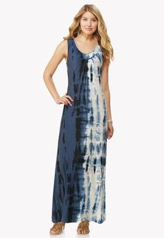 Cato Fashions Embellished Tie Dye Maxi Dress #CatoFashions