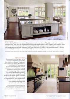 Martin Moore's English kitchen, featuring two large islands martinmoore.com The English Home January 2015