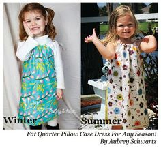 Only 2 fat quarters, and you've got yourself a pillowcase dress.  Now you just need a child to put it in.  Bonus: hem optional.