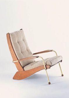 Jean Prouvé; FV22 'Visiteur Kangaroo' Chair, 1948
