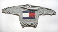 Vintage 90s TOMMY HILFIGER Big Flag Sweatshirt on VTG90s eBay Store!  http://www.ebay.com/itm/Vintage-90s-TOMMY-HILFIGER-Big-Flag-Logo-Spell-Out-Sweatshirt-Hip-Hop-Rap-Rare-/152387480428?ssPageName=STRK:MESE:IT  #Vintage #90s #TommyHilfiger #BigFlag #BigLogo #Flag #TommyFlag #SpellOut #ColorBlock #CrewNeck #Sweatshirt #HipHop #Rap #Rare #Aaliyah #Mens #Sweater