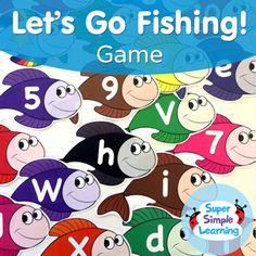 alphabet ideas on pinterest alphabet beginning sounds With letter go fish
