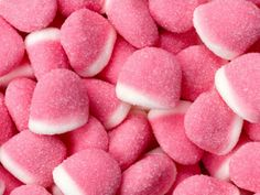 Strawberry Pufflettes Pink & White Gummy Bites Bag They taste amazing and were a great addition to my candy buffet! These gummies are delicious! Soft and great tasting! They are larger than I expected. And the flavor is out of this world. Bulk Candy, Candy Shop, Jelly Beans, Online Candy Store, Almond Cream, Food Wallpaper, Chocolate Sweets, Strawberries And Cream, Candy Buffet