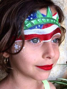 Face painting victoria emma face and body art 4th Of July Nails, 4th Of July Fireworks, Face Painting Designs, Body Painting, 4th Of July Party, Fourth Of July, Dragon Birthday, Videos Tumblr, War Paint