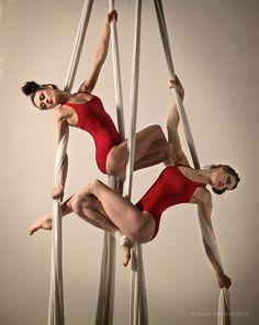 Natasha & Louise (Serenity Performance) on Aerial Silks