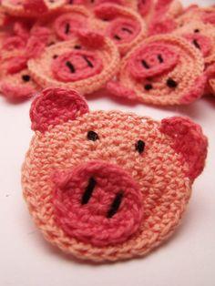 Image Detail for - . Crochet Pig | Crochet Pigs | Crochet Animals | Crochet Embellishment