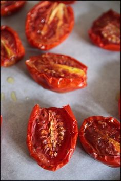 Slow roasted tomatoes (hoping I get lots of homegrown tomatoes to try this out!).