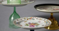made from antique dishes