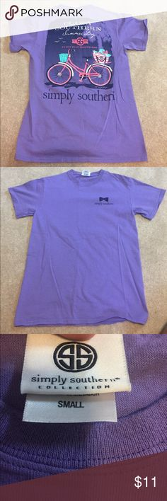 NWOT simply southern t shirt Never worn! Perfect condition. Super cute casual shirt Simply Southern Tops Tees - Short Sleeve
