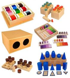 Montessori materials/toys for at home education.