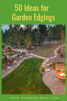 Lawn edges add easy definition to your yard, they provide the finishing touches to gardens, lawns, and pathways, with minimal effort and cost from you – kind of like the bow tie on top of the tuxedo! Here are some ideas! Lawn Edging, Garden Edging, Lawn And Garden, Garden Beds, Small Gardens, Outdoor Gardens, Farmhouse Garden, Landscape Edging, Garden Spaces