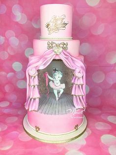 Dance Cakes, Ballet Cakes, Ballerina Cakes, Vintage Ballerina, Pretty Cakes, Cute Cakes, Beautiful Cakes, Awesome Cakes, Girly Cakes