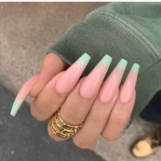 5 Nail Trends To Watch Out For This Summer Coffin Nails Designs Summer, Coffin Shape Nails, Coffin Nails Long, Summer Acrylic Nails, Best Acrylic Nails, Nail Summer, Acrylic Nails Coffin Classy, Acrylic Nail Designs Coffin, Perfect Nails