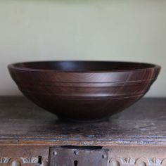 Hand-turned black walnut bowl from the Willoughby Collection by Andrew Pearce Bowls - Wood Turning Lathe, Wood Turning Projects, Lathe Projects, Wooden Plates, Wooden Art, Wood Supply, Bowl Turning, Woodworking Inspiration, Wood Candle Holders
