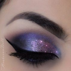 Metallic Purple Makeup Tutorial | Eyeliner, Chic and Brown