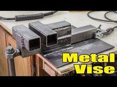 Build This DIY Metal Working Vise - http://www.gottagodoityourself.com/build-this-diy-metal-working-vise/