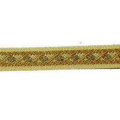 "Braid 3/8"" Maize & Old Gold Flat 5 yards - PATCHWORK PANDA LLC"