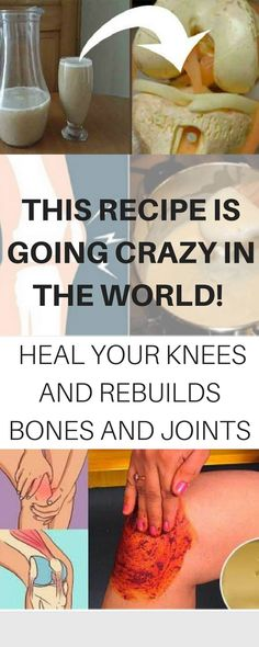 Heal knees and rebuilds bones & joints 2 tablespoons of cayenne pepper powder1/2 cup of warm olive oil/ 1 cup of apple cider vinegar1/2 inch grated ginger Add the cayenne pepper and the grated ginger to the warm olive oil, or apple cider vinegar, you can choose. Then, stir to prepare a paste.
